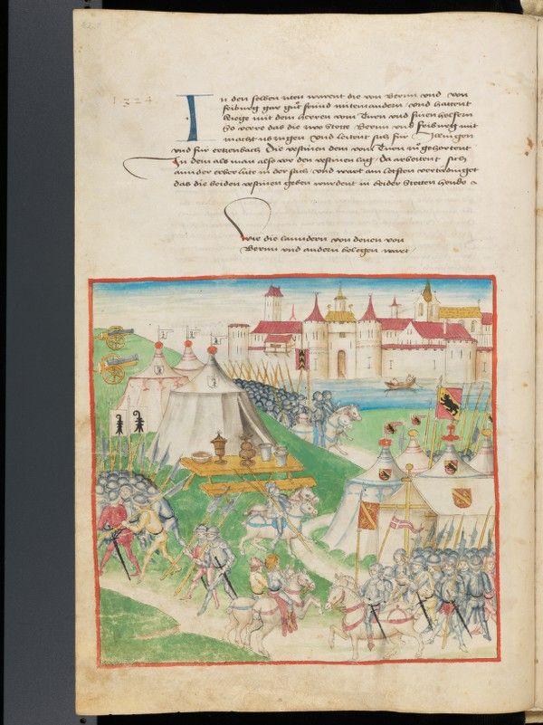 Bern, Burgerbibliothek, Mss.h.h.I.1 Parchemin · 235 ff. · 40–40.5 x 28–28.5 cm · Berne · 1478-1483 Diebold Schilling, Amtliche Berner Chronik, vol. 1