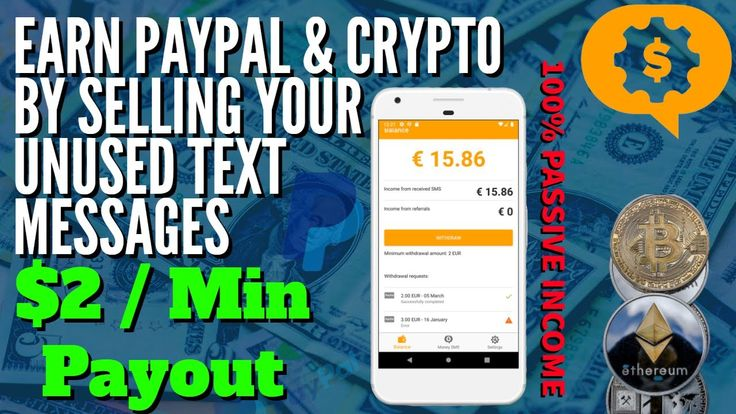 Money sms app review sell texts get paid paypal or