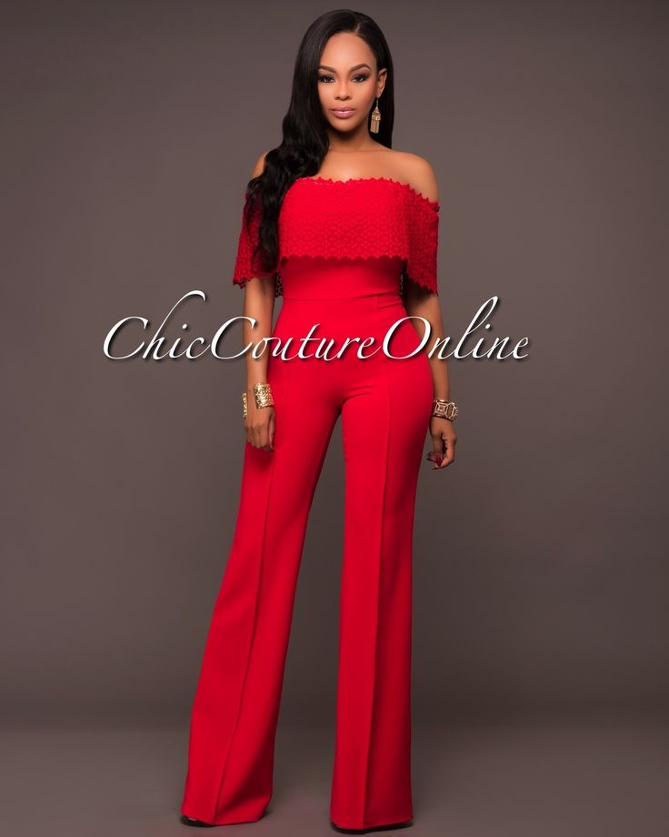 Chic Couture Online - Verdi Red Eyelet Top Strapless Jumpsuit, $60.00 (http://www.chiccoutureonline.com/verdi-red-eyelet-top-strapless-jumpsuit/)