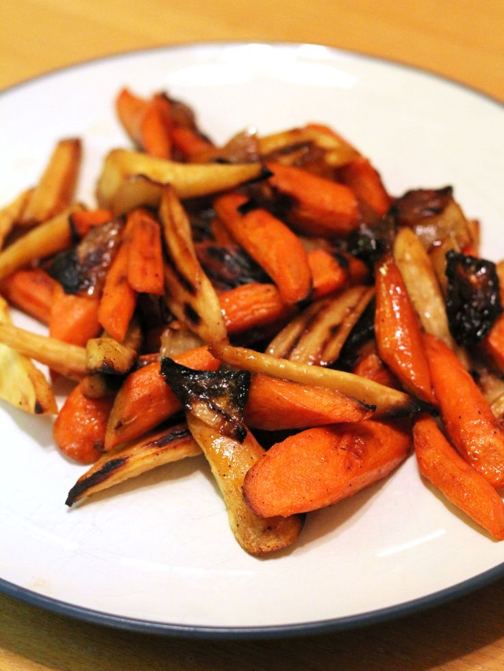 Root vegetables get a bad rap but I'm a huge fan of them - especially when they're roasted in a hot oven and glazed with apple cider and maple syrup. What could possibly be bad about that? Nothing, that's what. They're delicious and this year I served them at Christmas Eve ...