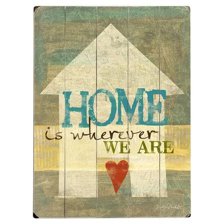 Perfect as a delightful focal point or part of an eye-catching vignette, this charming planked wood wall decor brings a heartwarming message to your home. Pl...