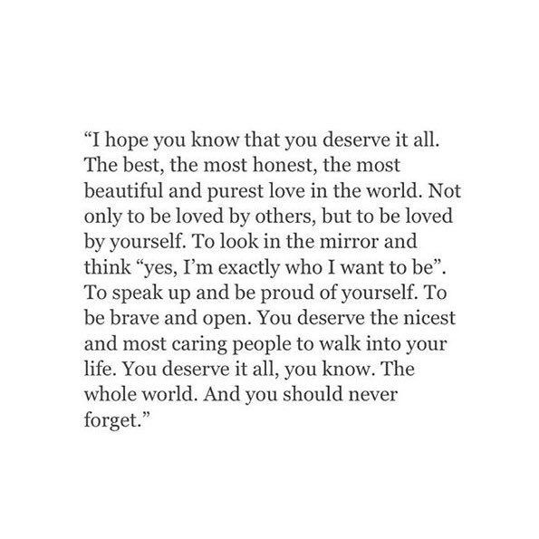 You deserve to be happy and i know you were at one time with me but it quickly turned into something different....