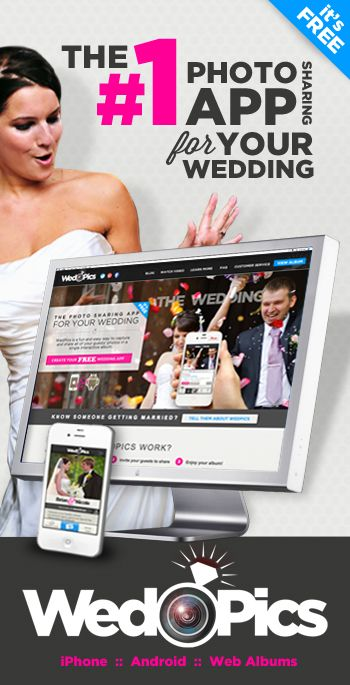 WedPics - The #1 Photo Sharing App For Your Wedding (FREE)