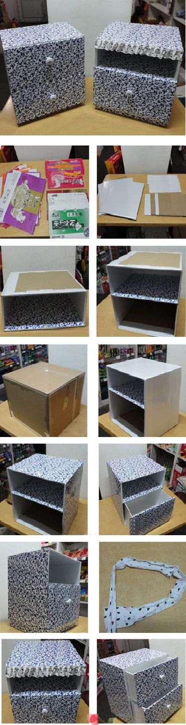 What a great idea for craft storage.  Or possibly play furniture for dolls!?