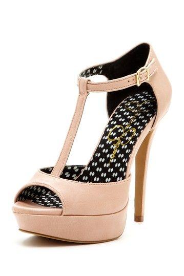Blush T-Strap Heels