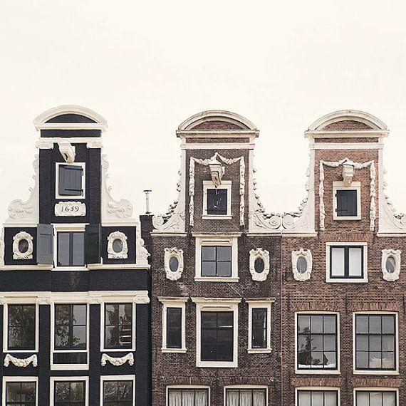Drei Giebel Amsterdam-Print von EyePoetryPhotography auf Etsy