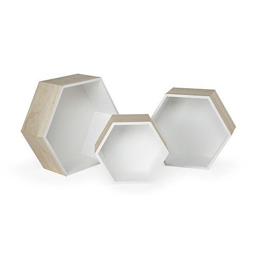 etagere bois octogonale