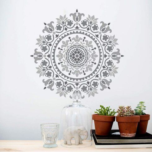 Gratitude Mandala Stencil Is A Large Wall Pattern From Cutting Edge Stencils.  Http:/