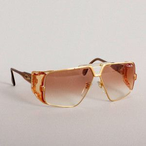 Vintage Cazal Sunglasses Gold now featured on Fab.
