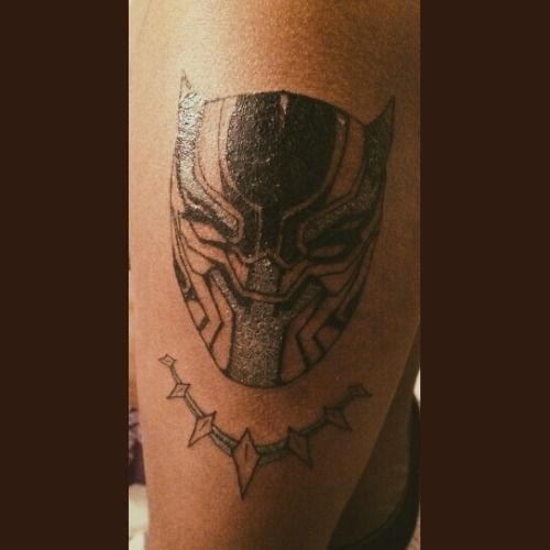 Image result for black panther marvel tattoo