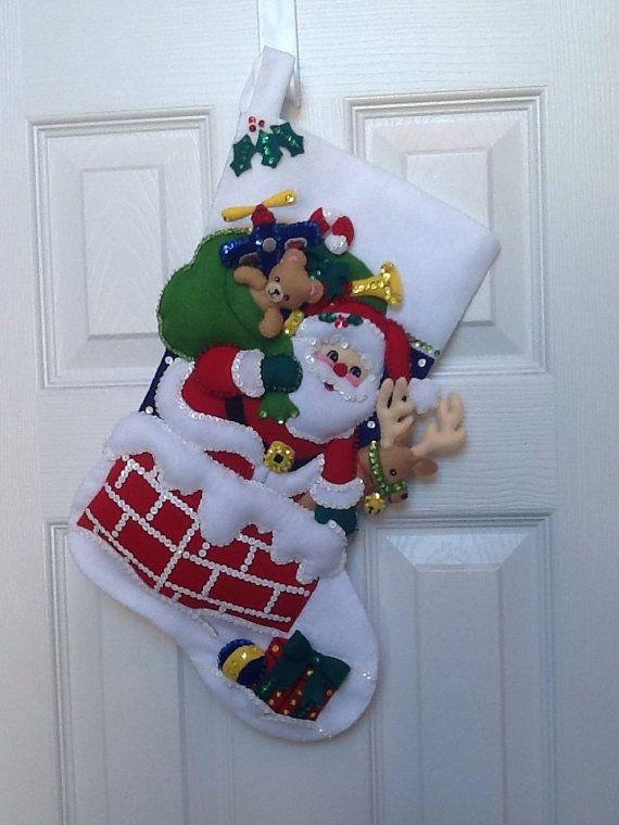 Media de Navidad Bucilla terminado 18 por JillianBCreations en Etsy