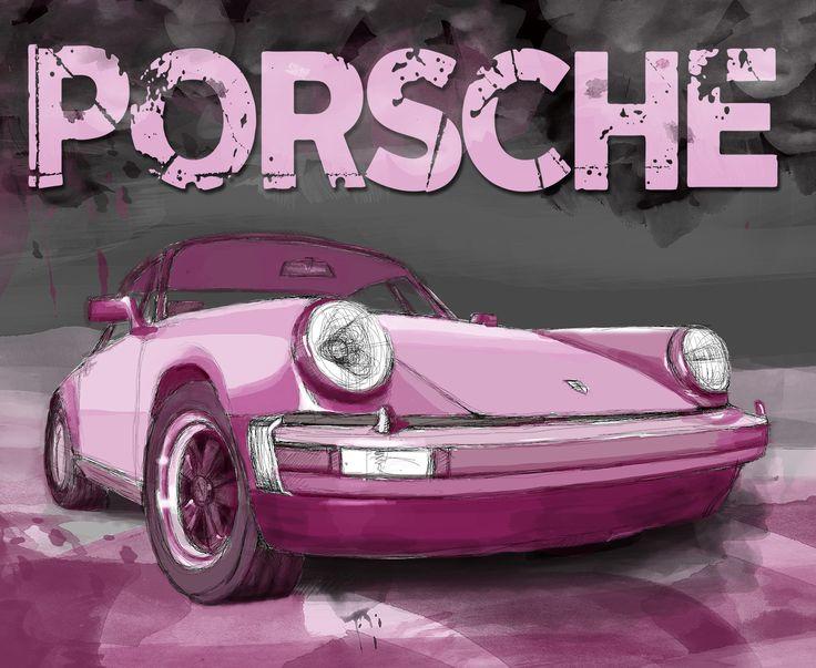 digital art, pink, tipo, carrera, turbo, art, Pink Carrera