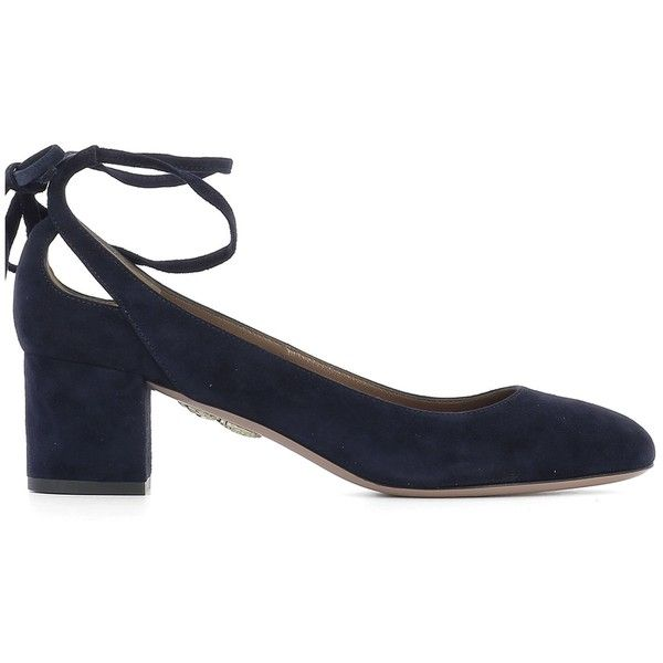 Blue Suede Pump ($460) ❤ liked on Polyvore featuring shoes, pumps, blue, womenshoeshigh-heeled shoes, aquazzura pumps, blue suede pumps, suede leather shoes, blue suede shoes and suede shoes