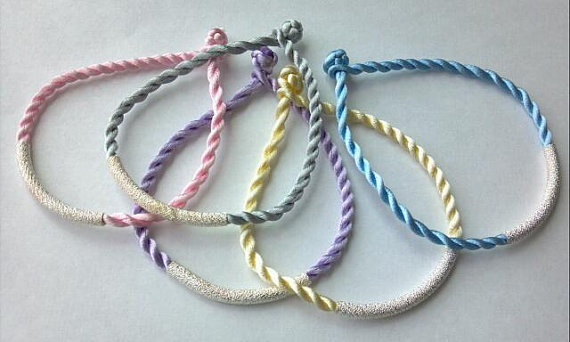 Easter Colored Twisted Cord Bracelets by MYCACouture: Kid