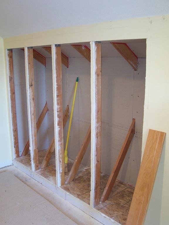 Attic eaves storage