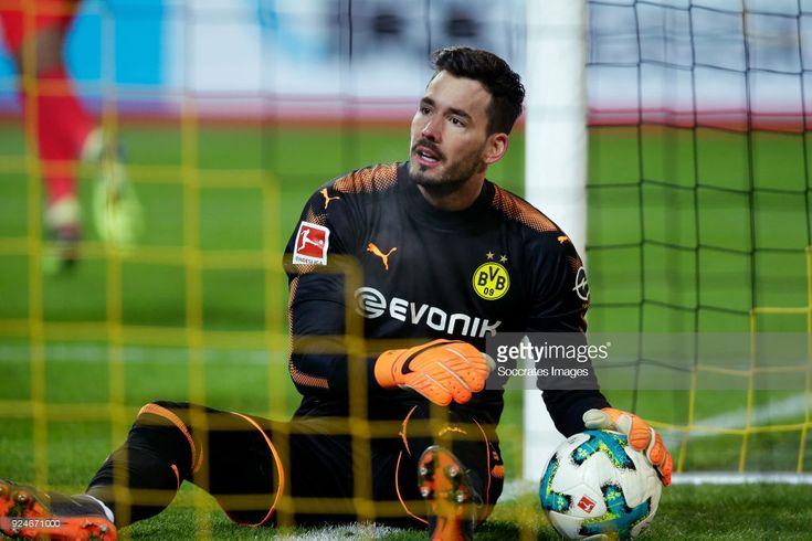 Roman Burki of Borussia Dortmund during the German Bundesliga match between Borussia Dortmund v FC Augsburg at the Signal Iduna Park on February 26, 2018 in Dortmund Germany