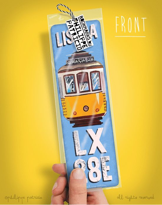 BOOKMARK //  TRAM 28 - LISBOA (6 x 20cm) small edition by the artist // ©philippe patricio / all rights reserved