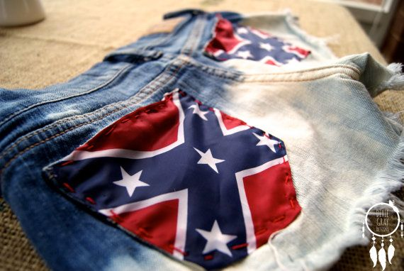 Rebel Flag Shorts by DixieGrayDesign on Etsy