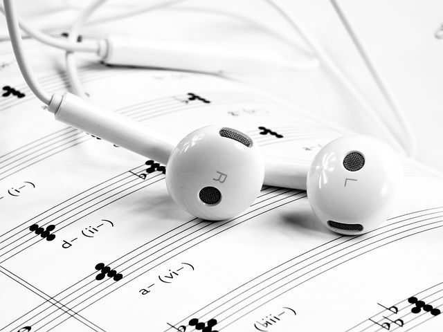Música, Fone De Ouvido, Branco