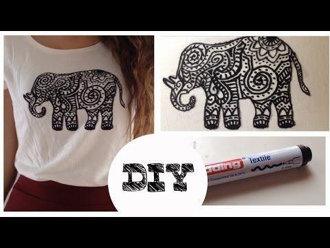 DIY - Camiseta con elefante estampado - YouTube