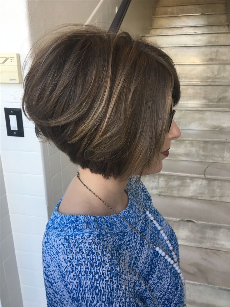 Bob short hair blunt cut stacked bob haircut hairstyle undercut  Hair by Paige Goodwin Birmingham, Al IG: @hairbypaigegoodwin Www.salonustyle.com