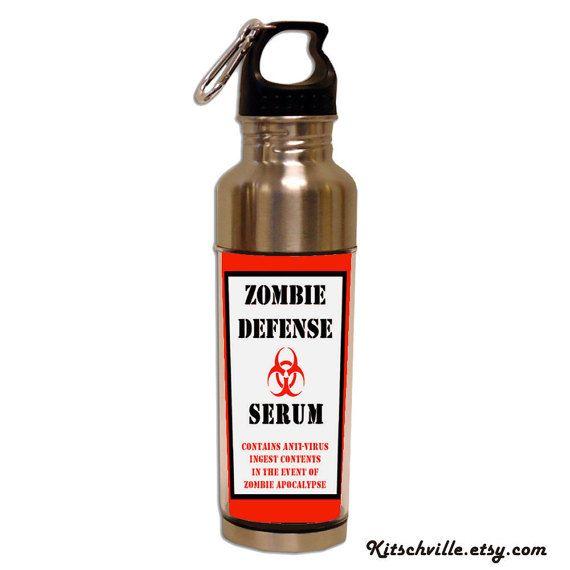 Bottiglia di acqua del siero difesa ZOMBIE divertente per i