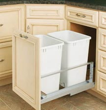 Kitchen slide out trash containers - to replace the trash compactor.