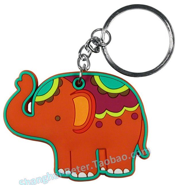 Baby Shower Favor Lucky Elephant Keychain #bomboniere #communionparty #partygifts #babyshower