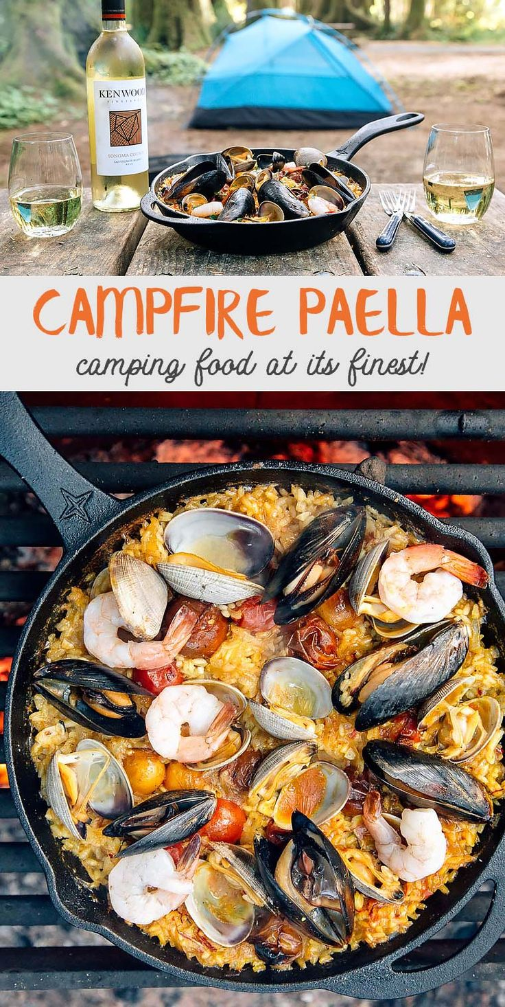 Oregon Coast Campfire Paella