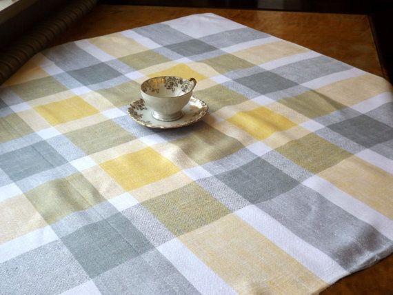 Vintage Plaid Kitchen Tablecloth
