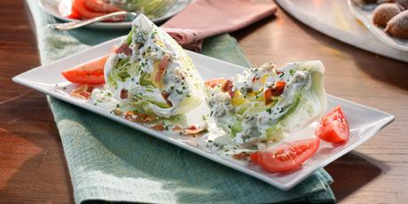 Steakhouse Wedge Salad with Gorgonzola and Crispy Pancetta