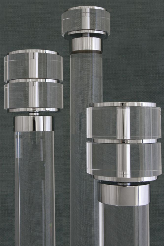 Acrylic Curtain Pole Collection - Jago Designs | Exclusive, Bespoke Curtain Poles and Accessories made in England