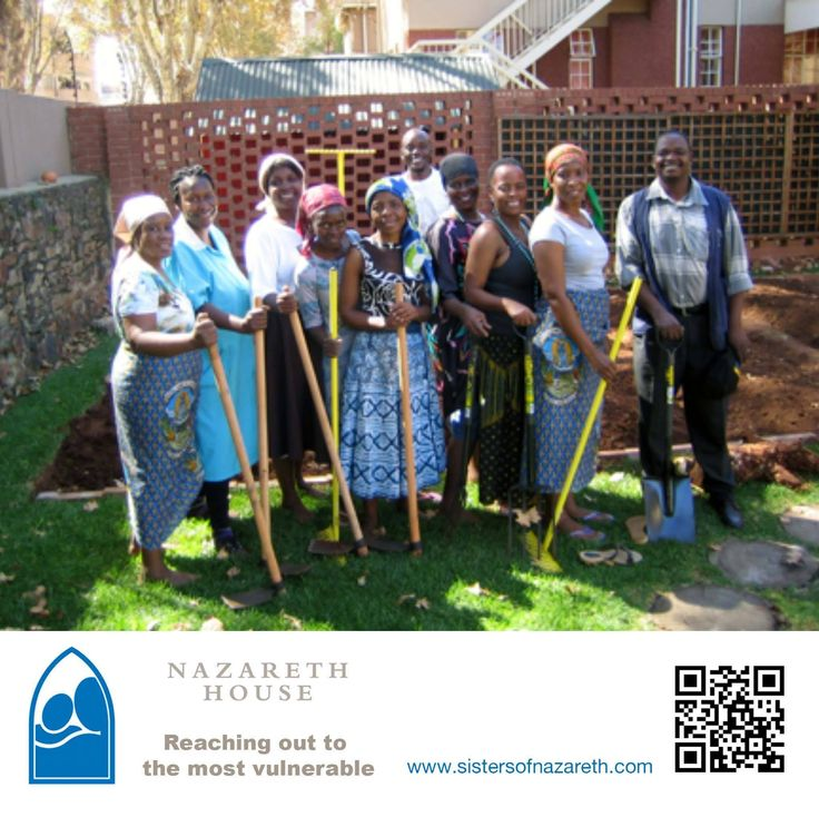 Women from the Zimbabwean Catholic Community have joined partnership with Nazareth House in Yeoville, to start a vegetable garden in the grounds of the Home. The Department of Agriculture recently donated sets of gardening tools, various seeds and bags of compost to Nazareth House, and after identifying a large plot of enclosed vacant ground behind the children's home, the Ladies' Group have generously offered to help the Sisters with this project.