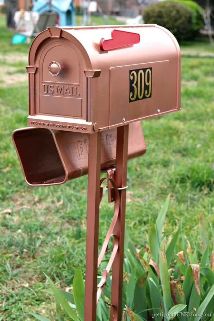Classy Copper Mailbox Is Really Painted Plastic Copper Mailbox