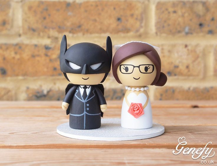 Cake Topper Wolverine With Blonde Bride