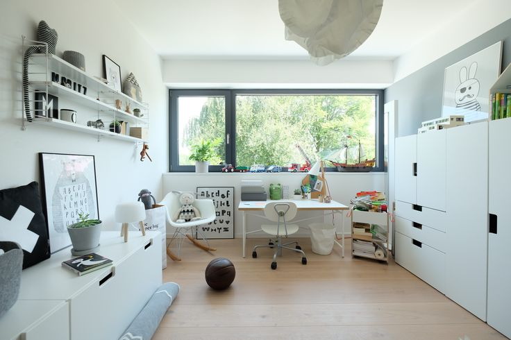 Vor ein paar Monaten haben wir das Kinderzimmer umgestaltet: Der Schreibtisch ist ans Fenster gewandert, Stuva und String Pocket sind eingezogen. Die taubenblaue Wand ist grau geworden. LG, Kerstin