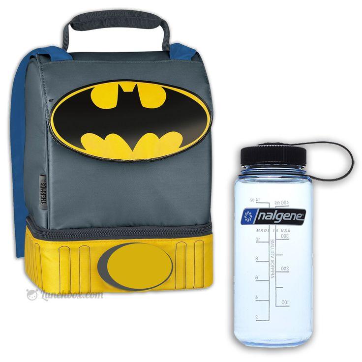 Batman Lunch Box with Drink Bottle