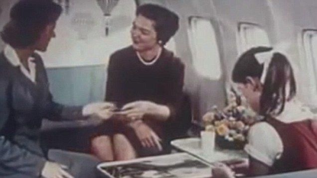 Retro PanAm video shows elegant and extravagant airline food of the past.