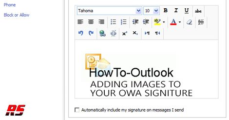 how to make a signature on outlook web app