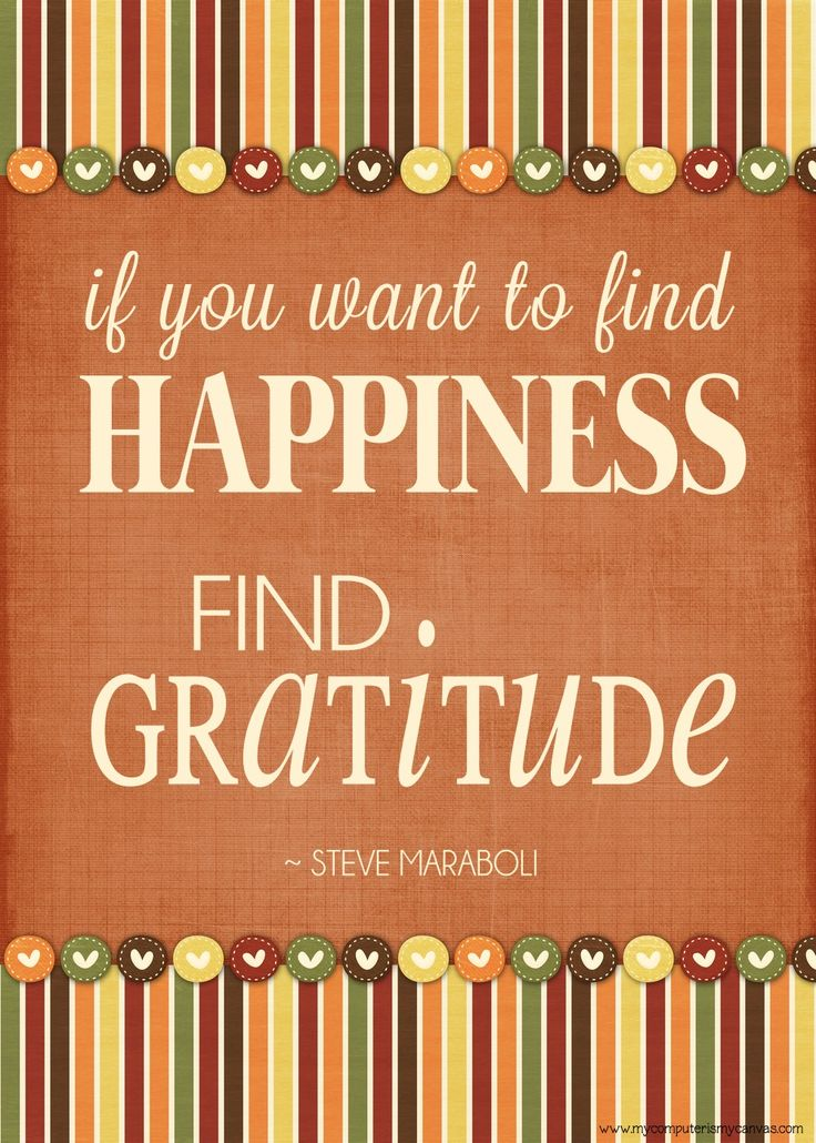Printable Quote On Gratitude, Happiness And Thanksgiving