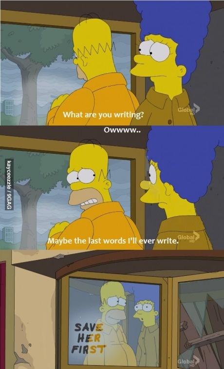 Homer being sweet