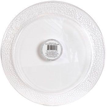 "Bulk Round Plastic Hammered Serving Trays, 13¼"" at DollarTree.com"