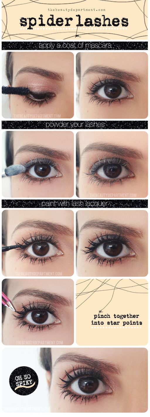 Powder, lacquer + pinch your lashes every now and then!