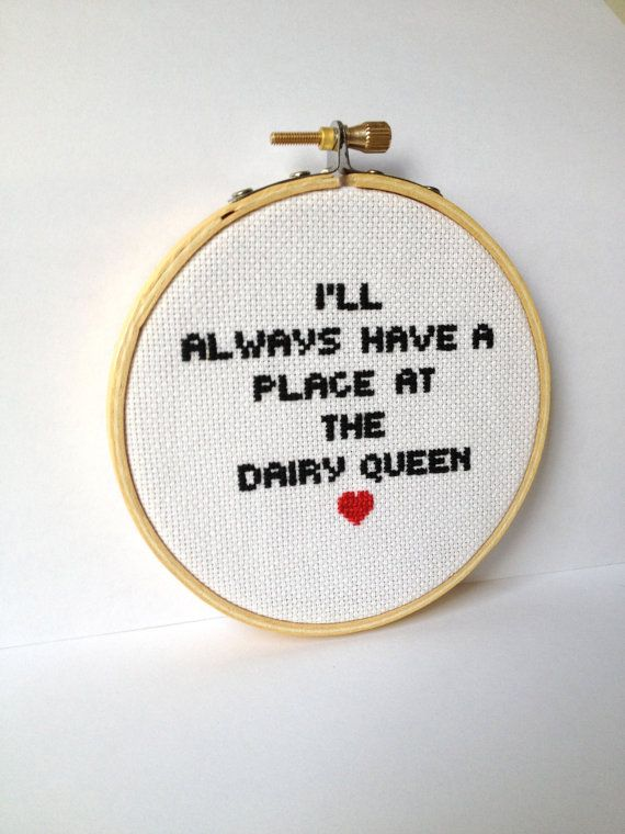 Waiting for Guffman Embroidery Hoop Art quote cross by GraceyMay
