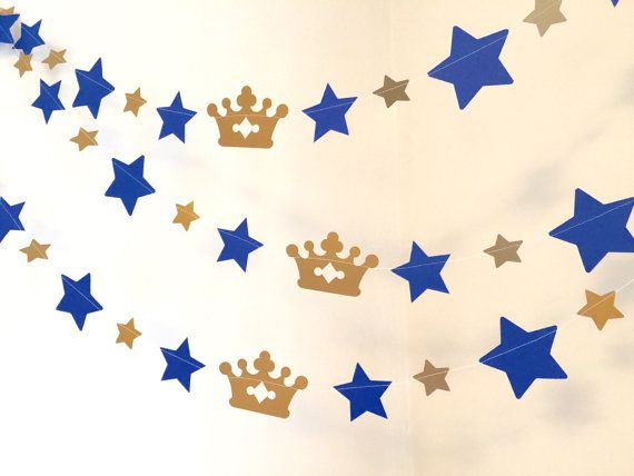 Little Prince Baby Shower Decor - Little Prince on the Way - Little Prince Inspired Decor - Little Prince Birthday Garland - custom colors