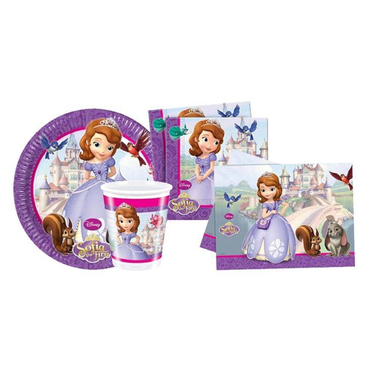 16 Kişilik Prenses Sofia Doğum Günü Parti Seti, karlar ülkesi Prenses Sofia doğum günü parti seti, Prenses Sofia temalı parti seti