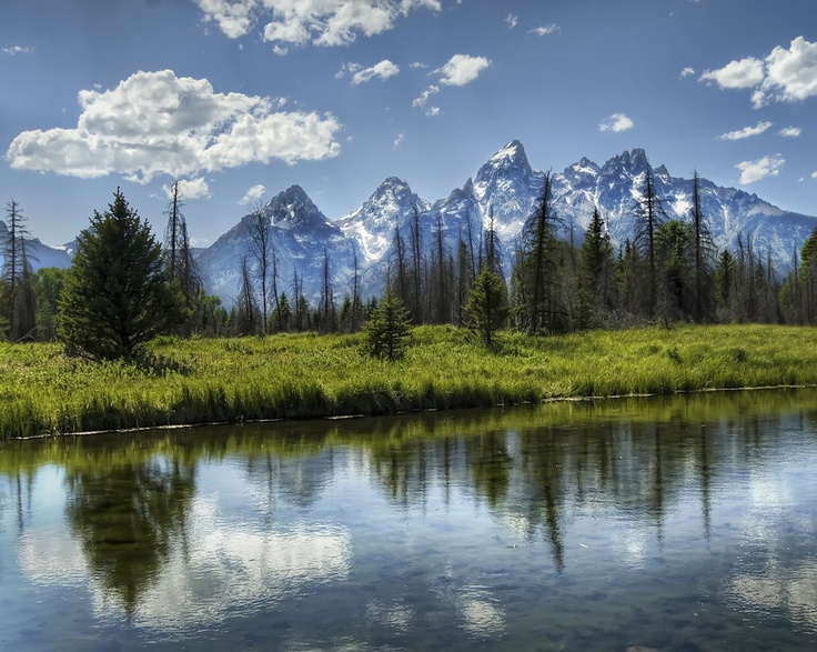 The grand Tetons, Wyoming.