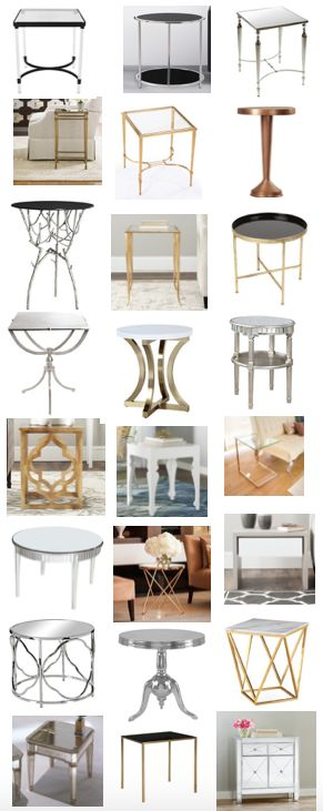 Metallic accent tables at reasonable prices