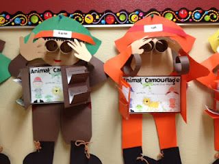 2nd grade camouflage writing activity
