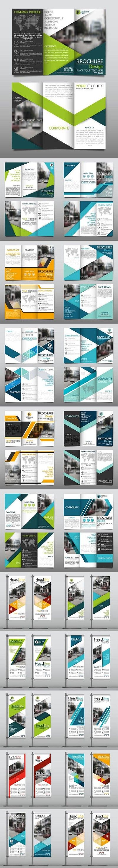 Roll up banner and tri fold brochure                                                                                                                                                                                 More